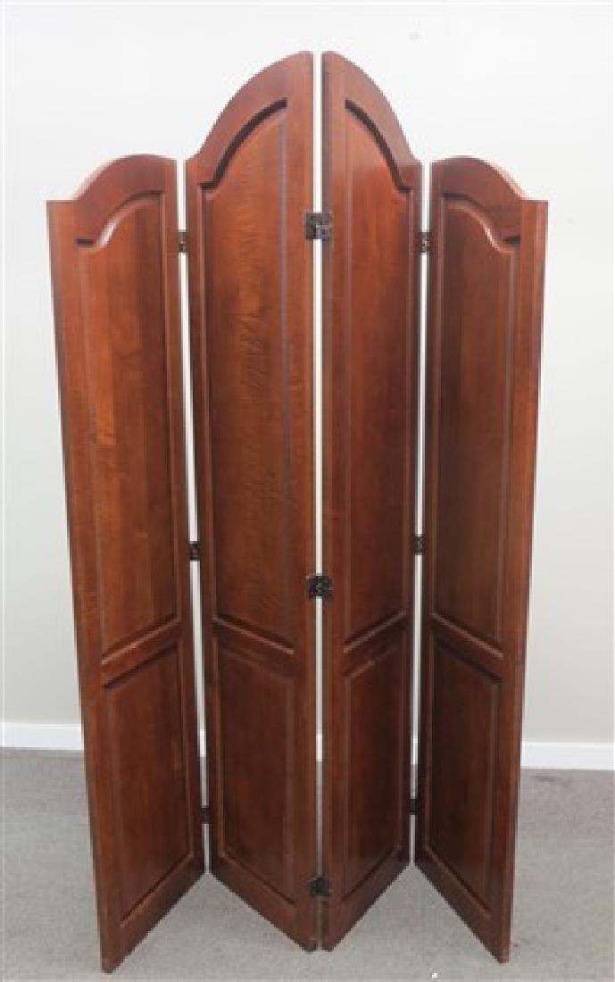 4 panel cherry room divider