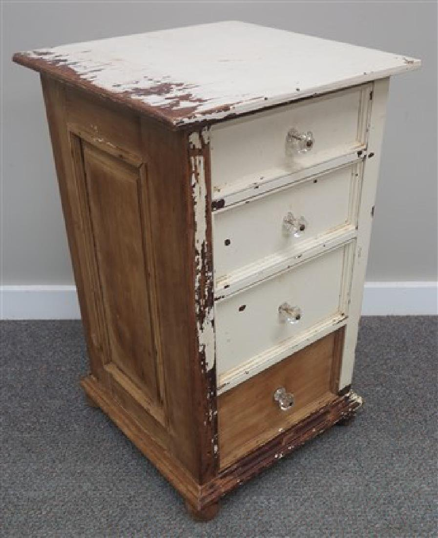 4 drawer painted cabinet