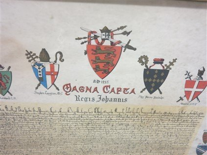 Framed British coat of arms document - 2