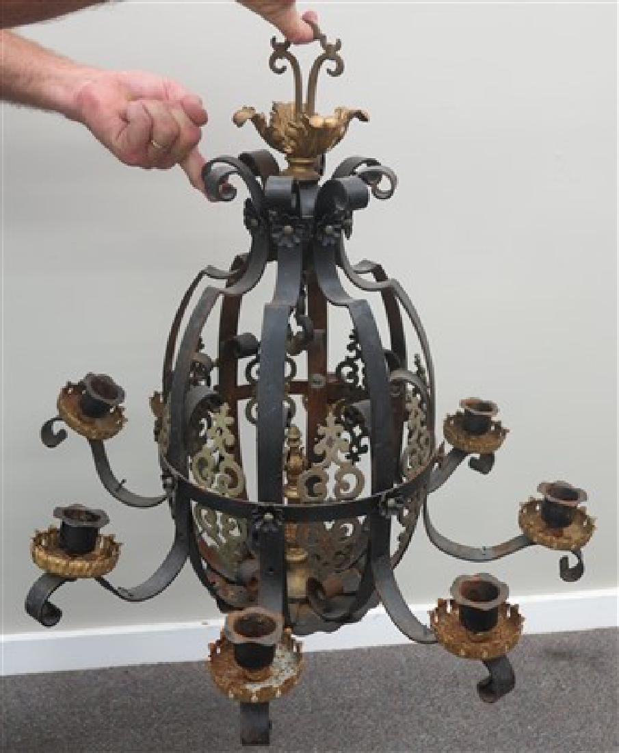 Nice iron and brass fixture