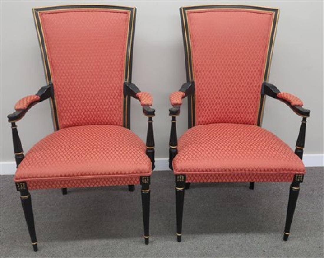 Pair stylish armchairs