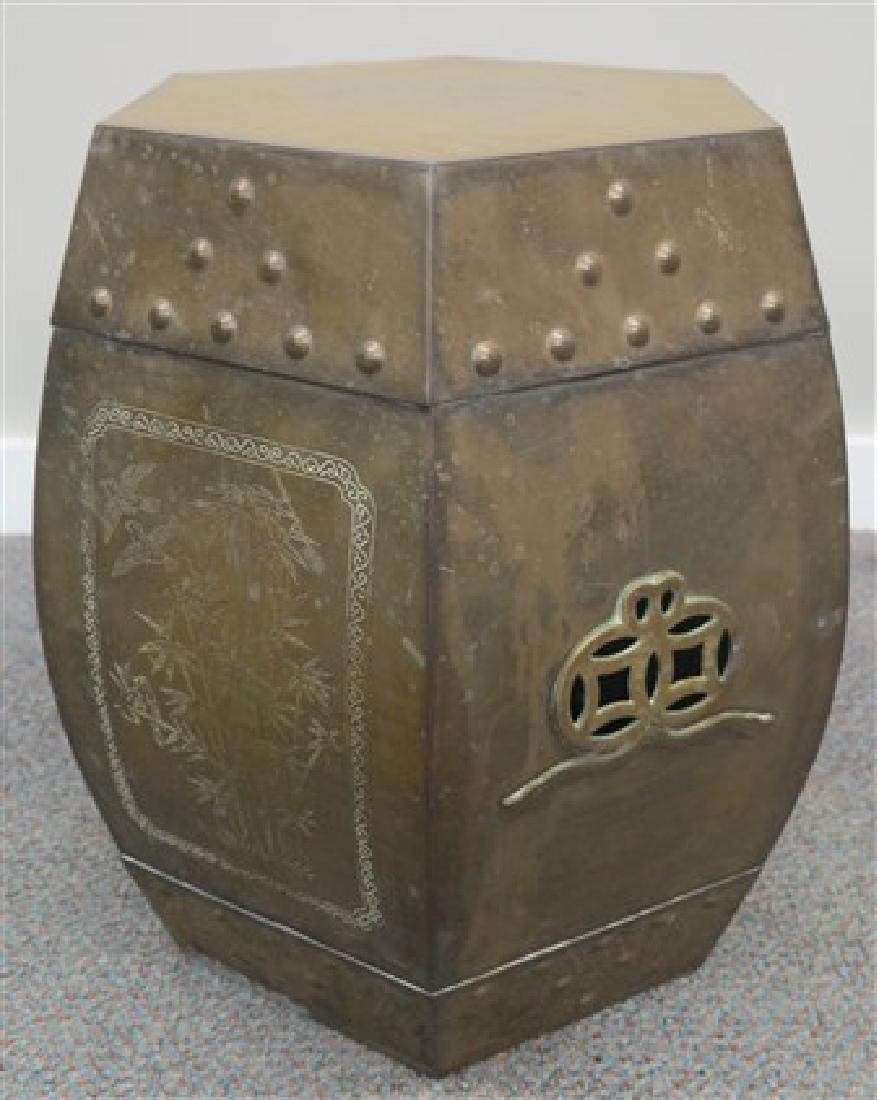 Brass garden seat