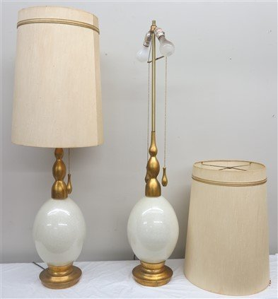 Pair of Large Mid-century Lamps