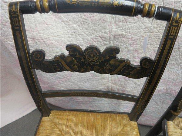 3 stencilled chairs - 2