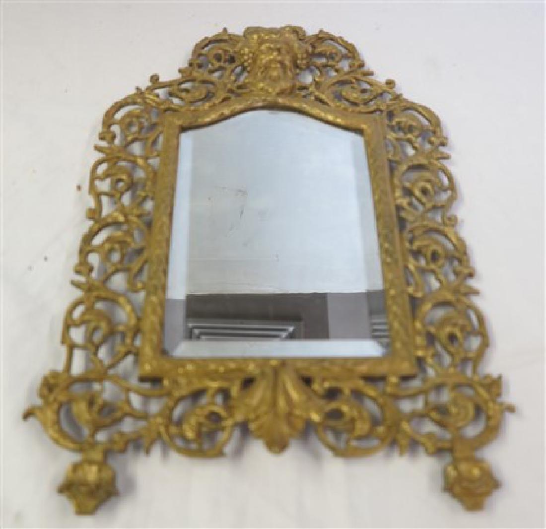 B & H brass mirror 2 brass sconces