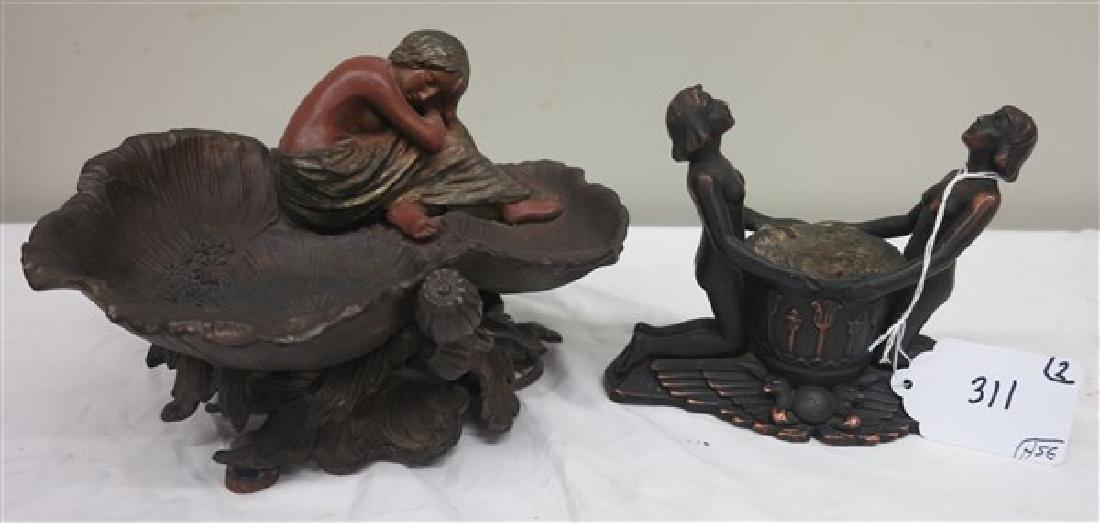 2 art nouveau sculptures
