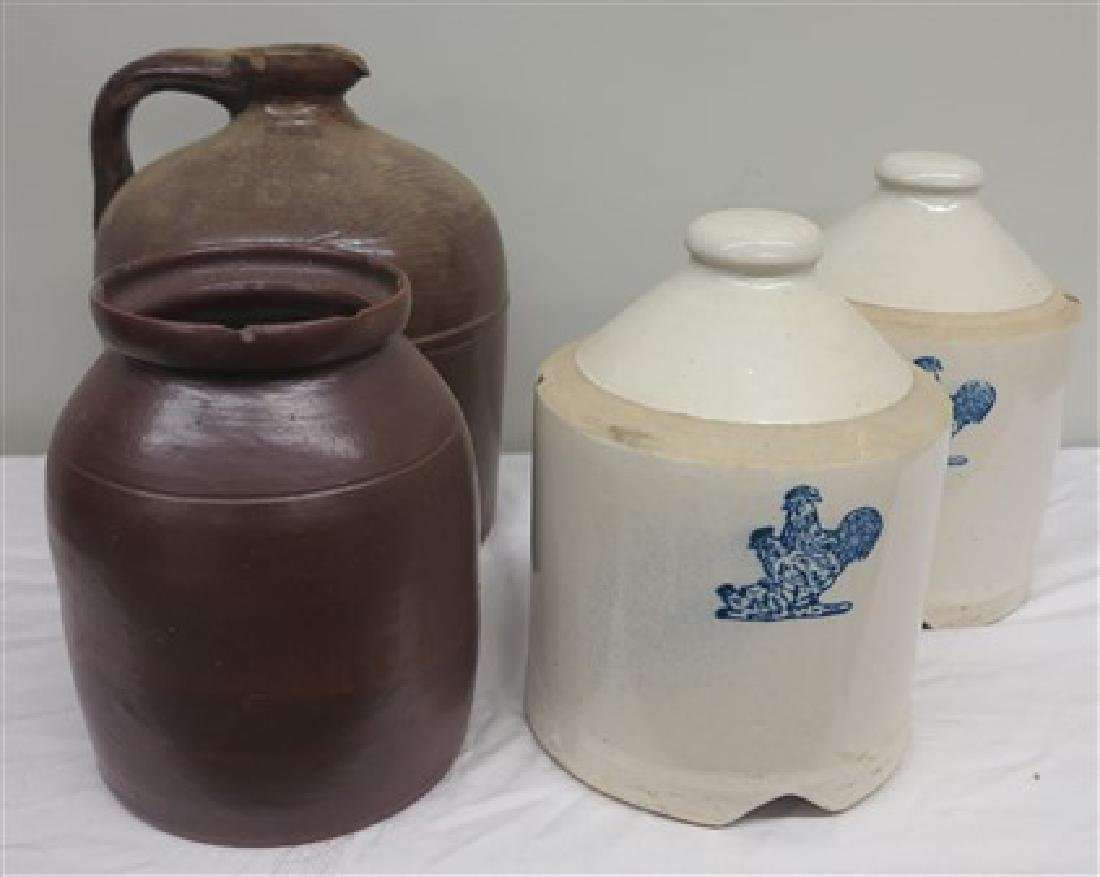 4 pieces American pottery