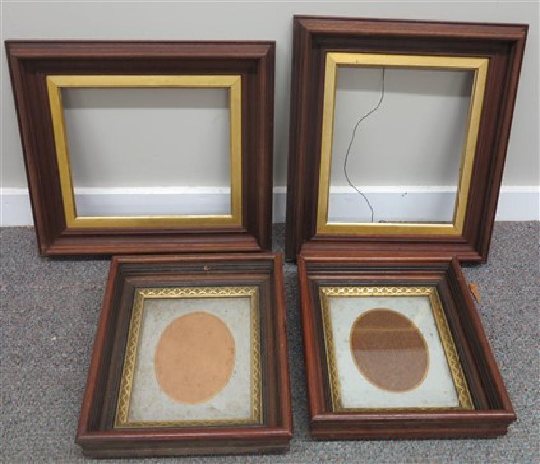 4 Dish walnut Victorian frames