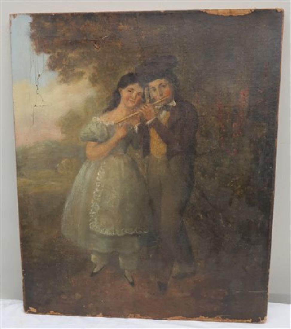 "Unframed 19th century o/c- 18"" x 22"""