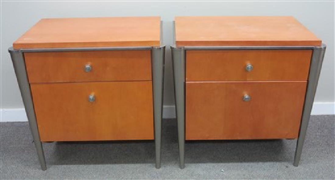 2 modern 2 drawer stands