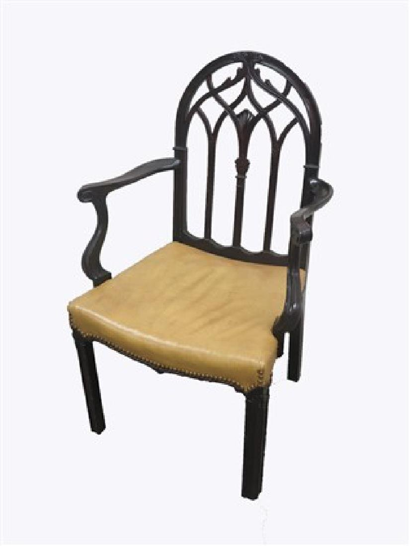 Single Mahogany Arm Chair