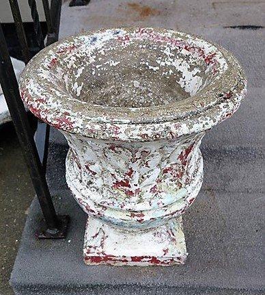 "19"" concrete urn"