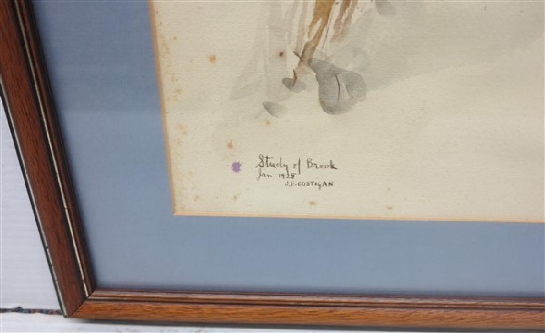 Watercolor signed J. E. Costigan 1925 - 2