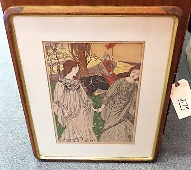 Colored print signed Robert Engels