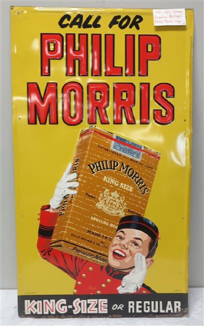 Tin Philip Morris Sign