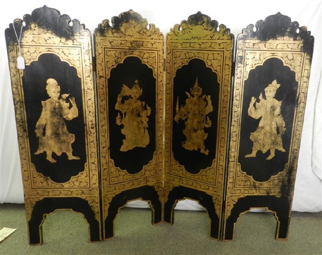 4 Panel Oriental Short Screen