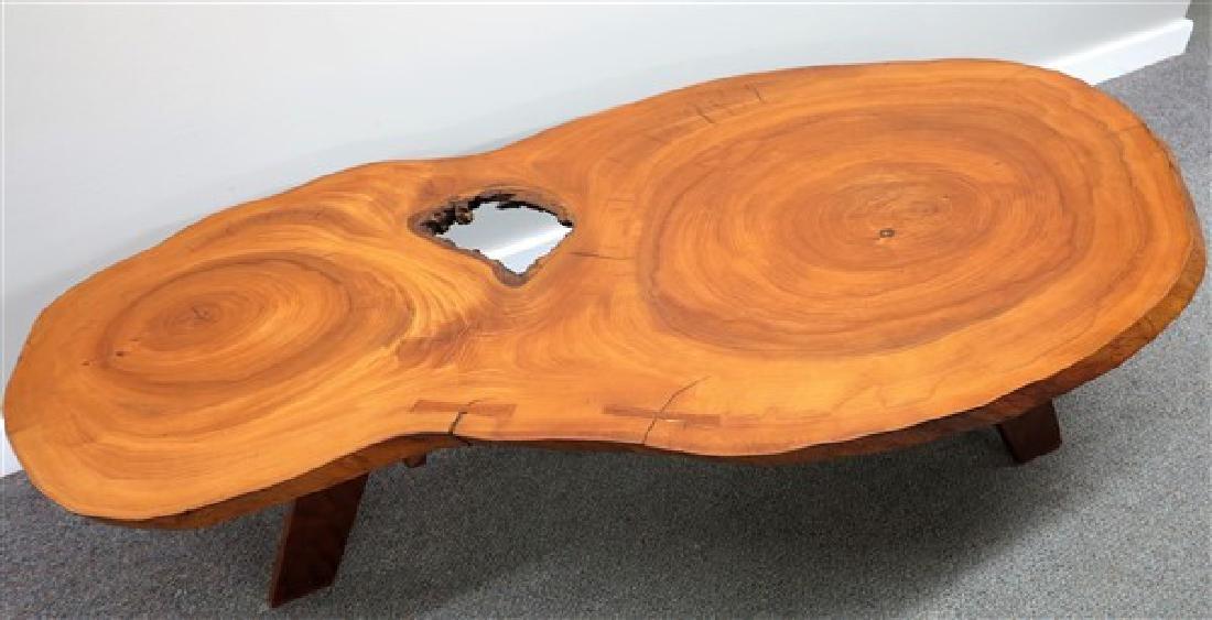 Mid Century Slab Coffee Table - 3