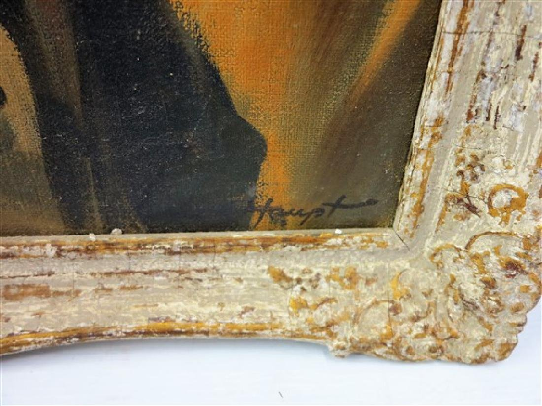 Framed o/c Portrait signed. Haupt - 2
