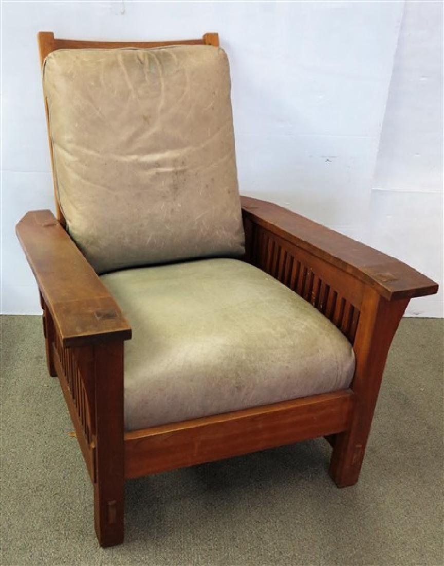 Stickley Audi Leather Morris Chair