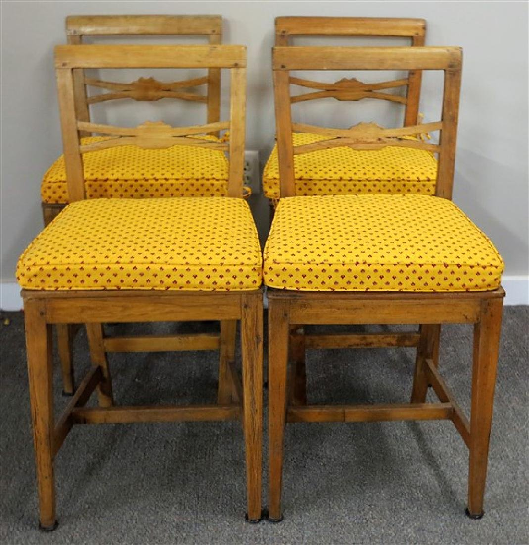 4 19th century English country side chairs