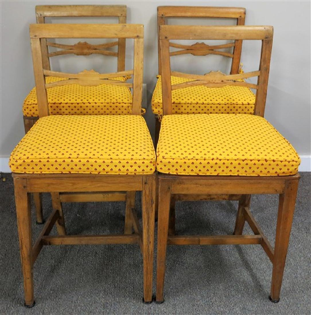 4 19th century English country side chairs - 2