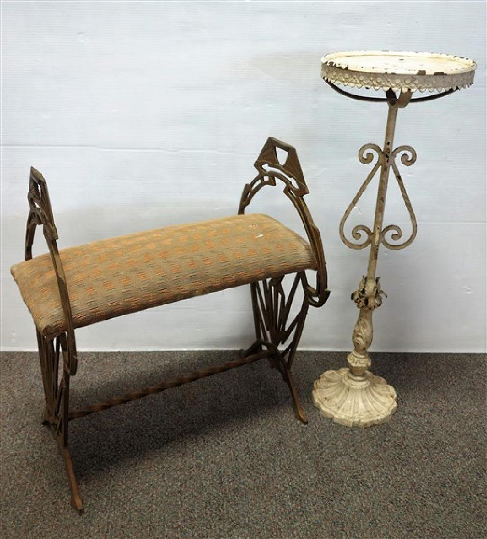 Deco Bench & Iron Stand