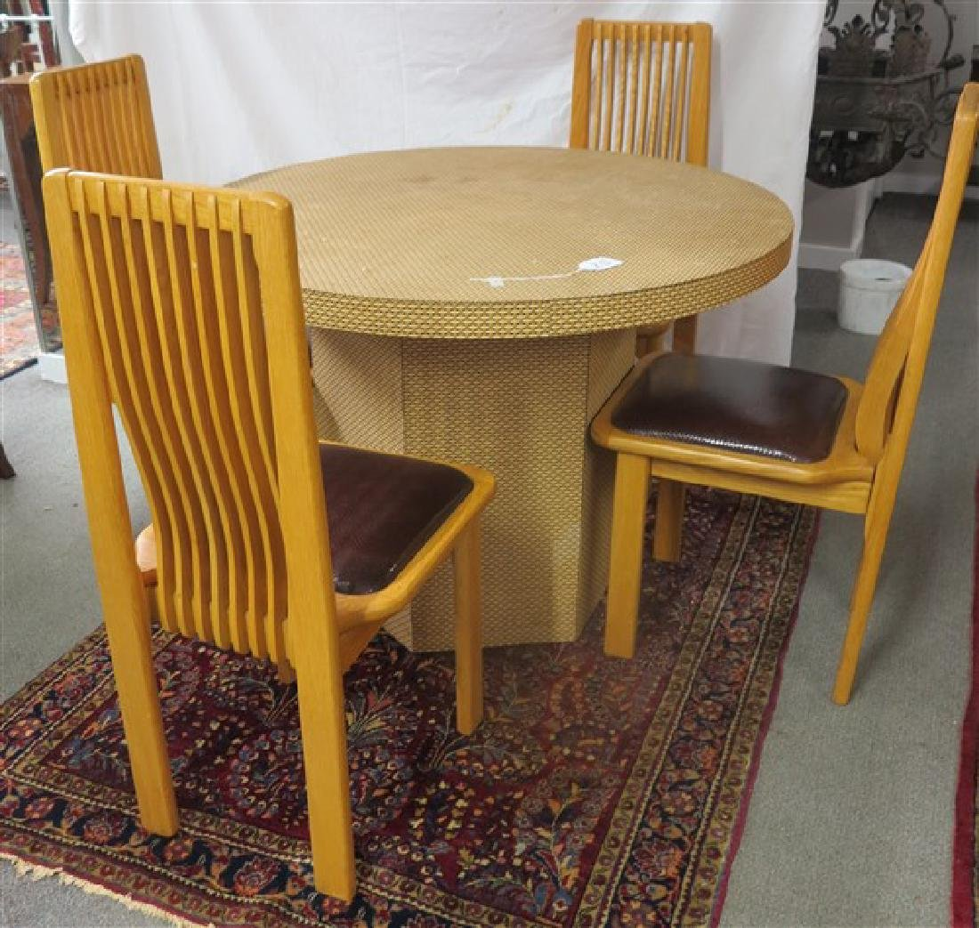 5 piece dining table set Lustig Bros, Brooklyn, NY
