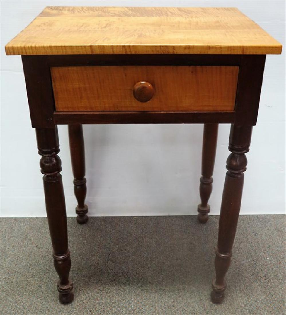 Maple and cherry 19th century 1 drawer stand - 2
