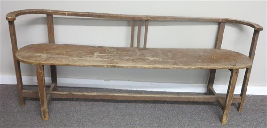 Primitive country bench - 2