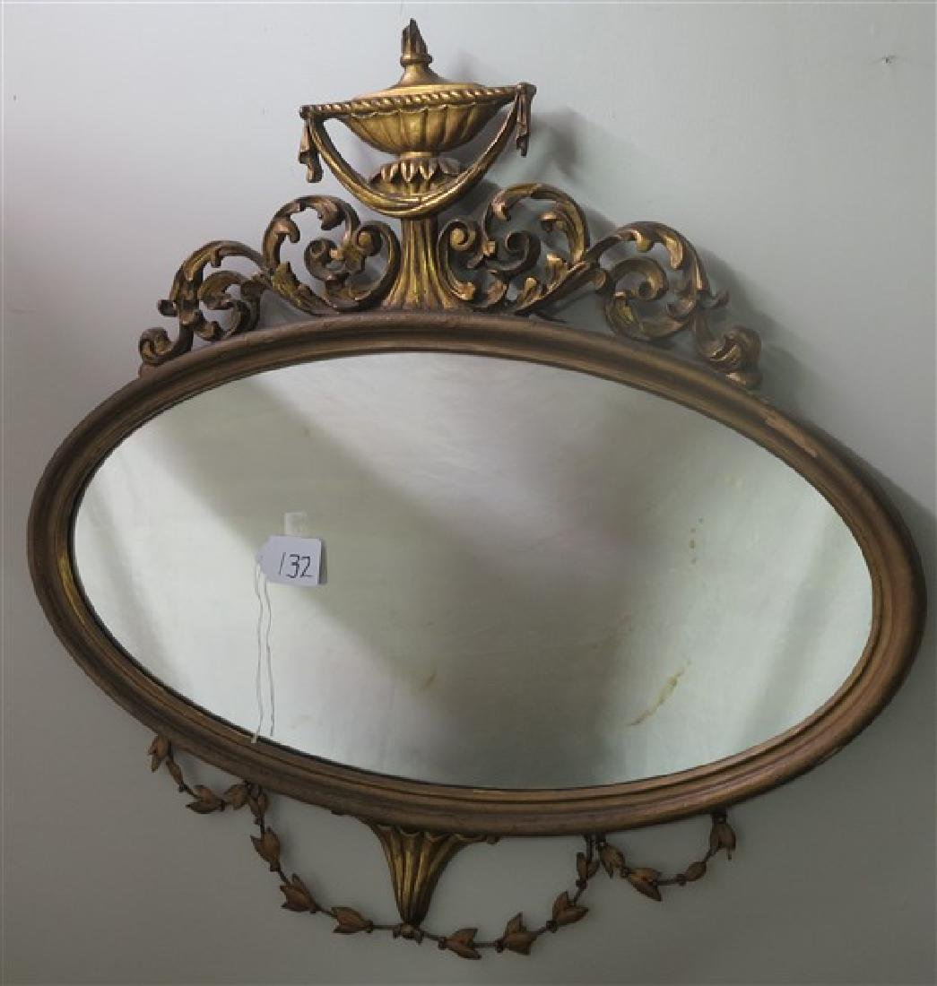 """Empire style gilt wood mirror 34"""" wide"""