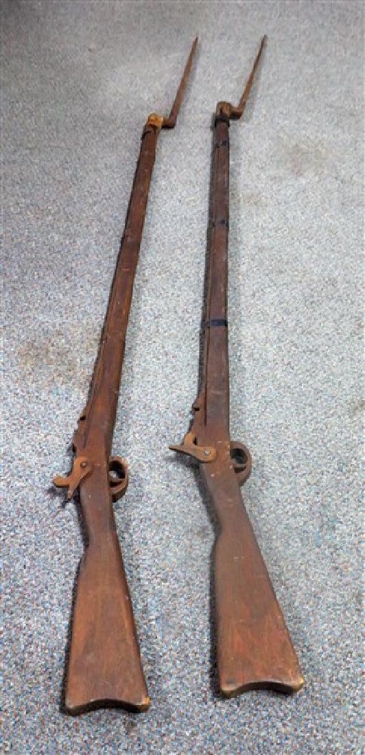 2 Wooden Replica Guns