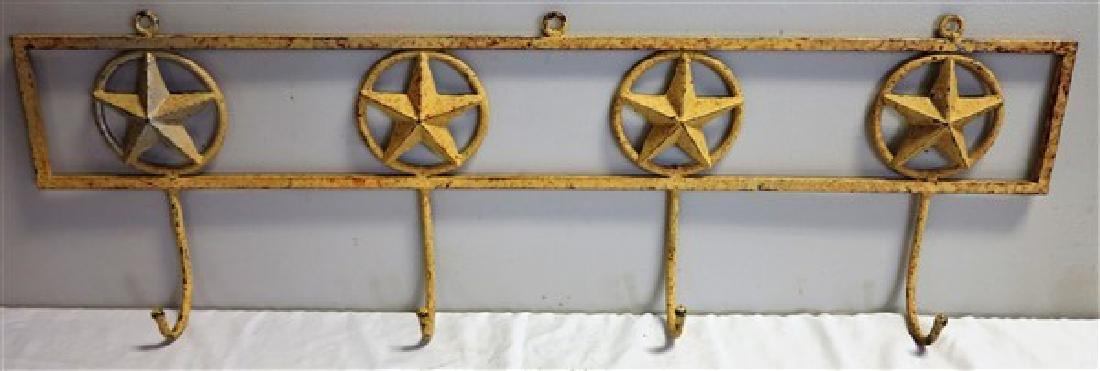 """43"""" Iron coat rack with stars"""