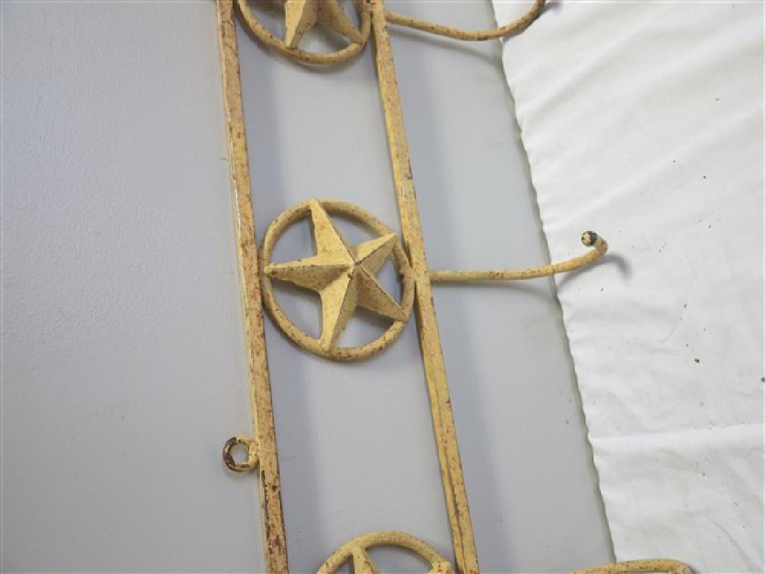 """43"""" Iron coat rack with stars - 2"""