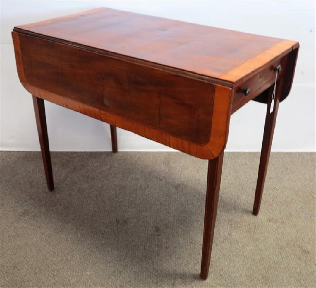 Band inlay 1 drawer Pembroke table
