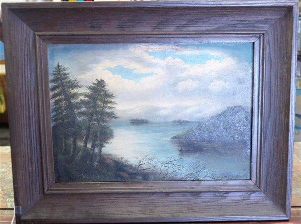 O/C Lake George- Signed lower left