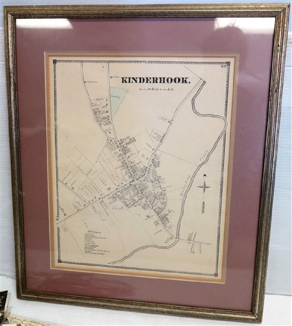 Kinderhook map and Columbia County postcards