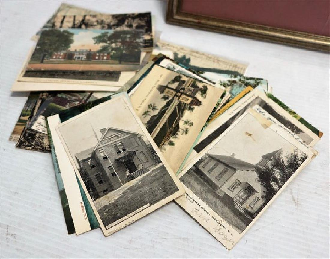 Kinderhook map and Columbia County postcards - 2