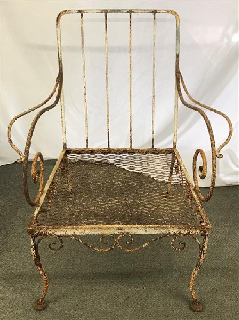 Stylish 1920's Iron garden chair