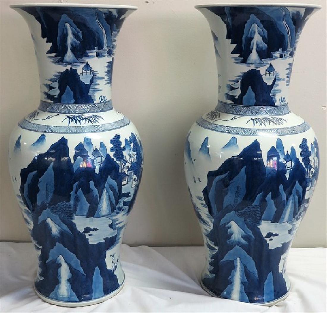 """Pair 29"""" porcelain palace vases"""