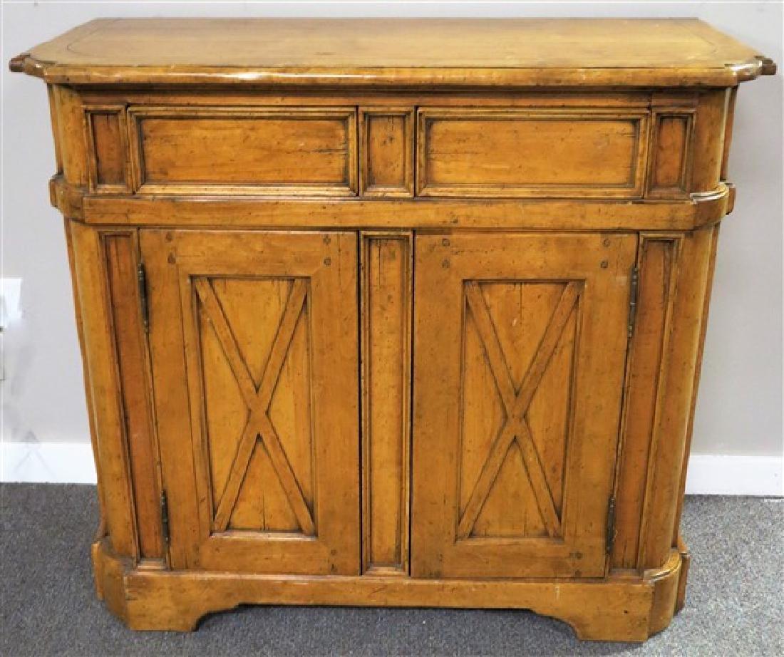 "2 door 2 drawer country cabinet 42"" wide 38"" high"