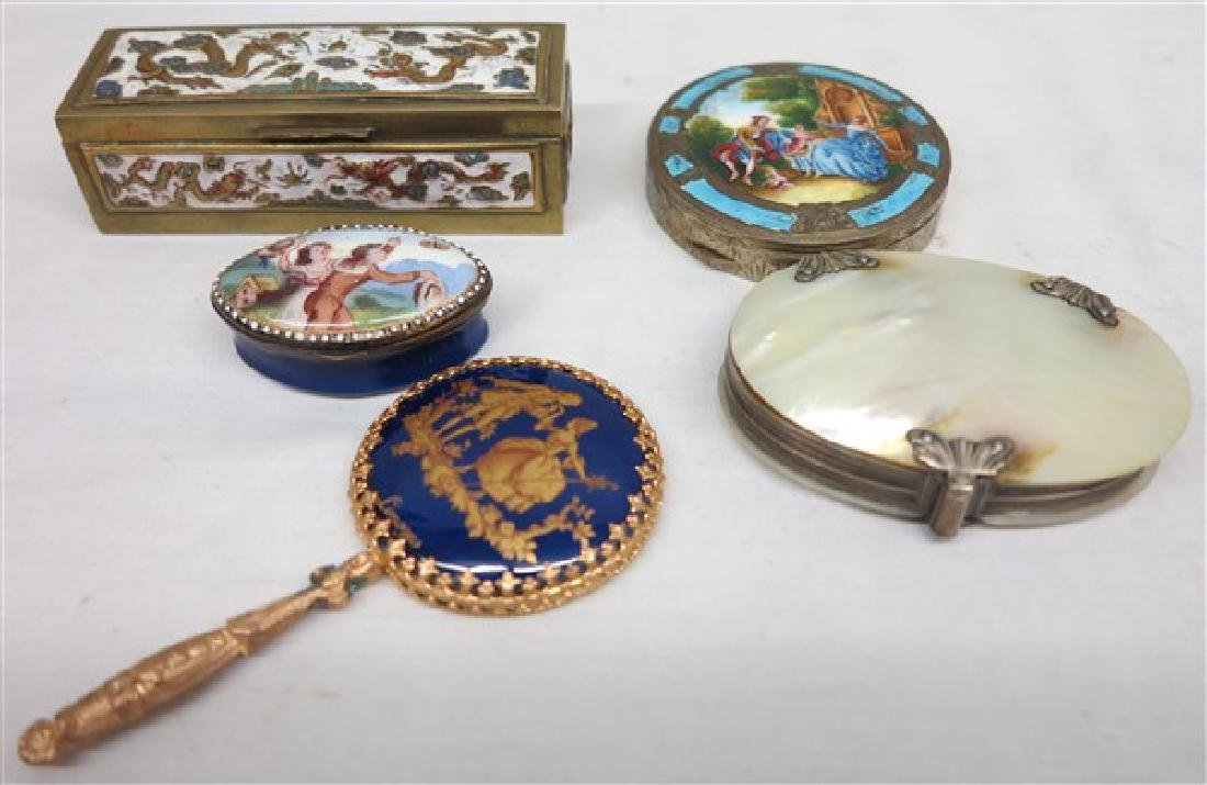 5 piece 19th century ladies petite dresser items