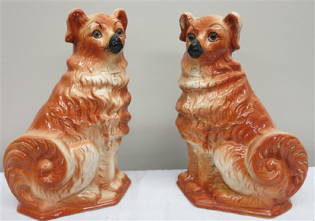 "Lovely pair of 12"" Staffordshire dogs"