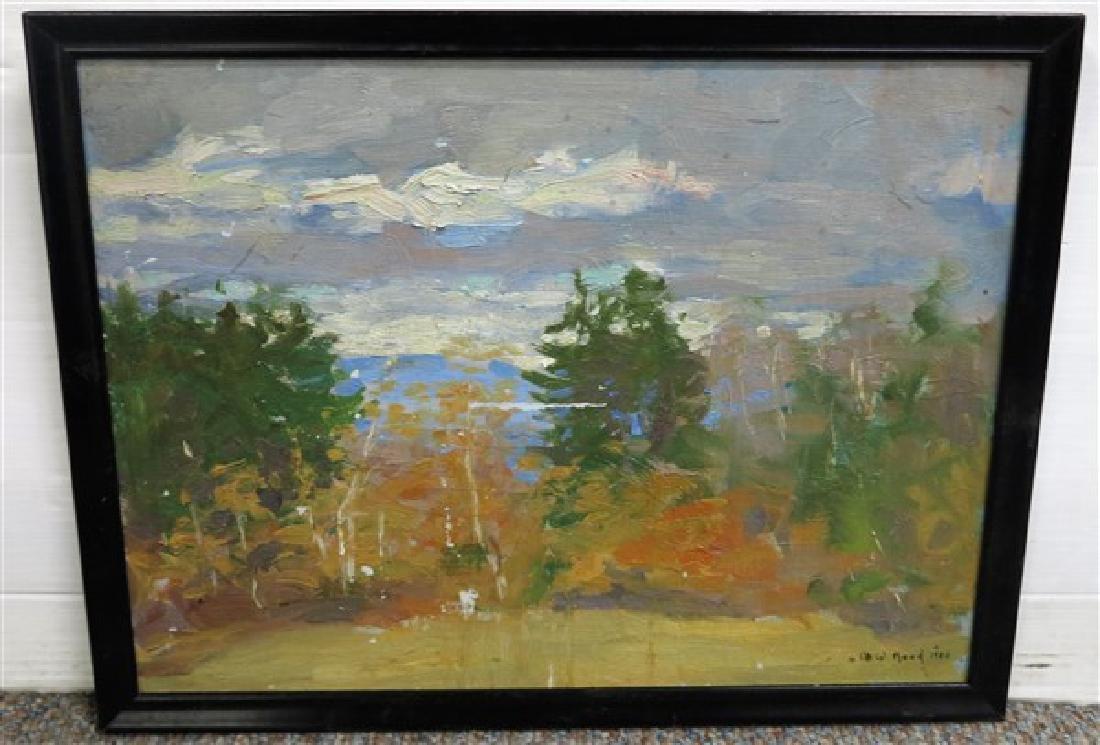 Oil on board landscape M.W. Reed 1924