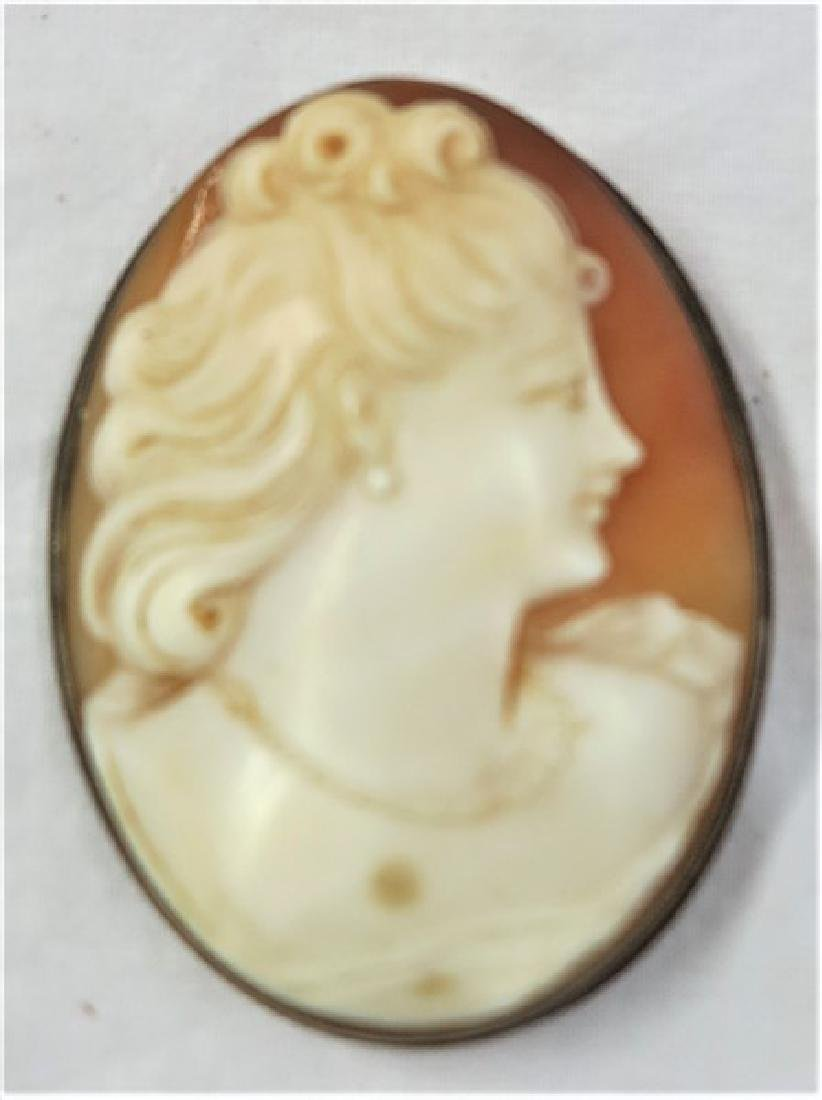 "2 1/2"" 19th century cameo pin"