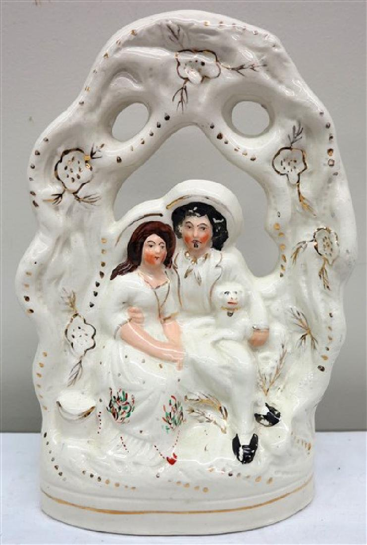 "14"" Staffordshire bridal group"