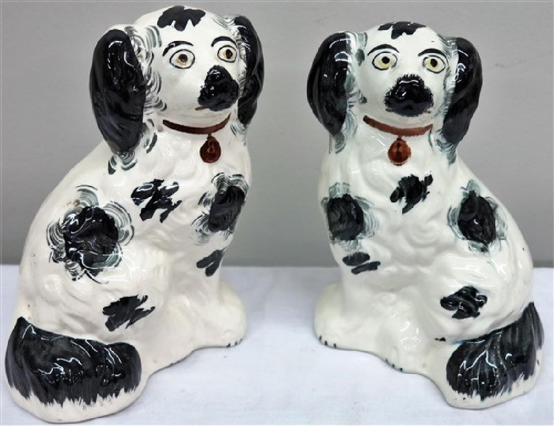 """2 8"""" Staffordshire dogs"""