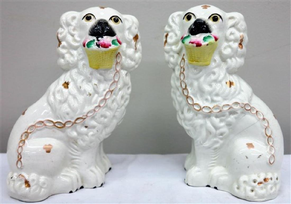 "Pair of 8"" Staffordshire Dogs"