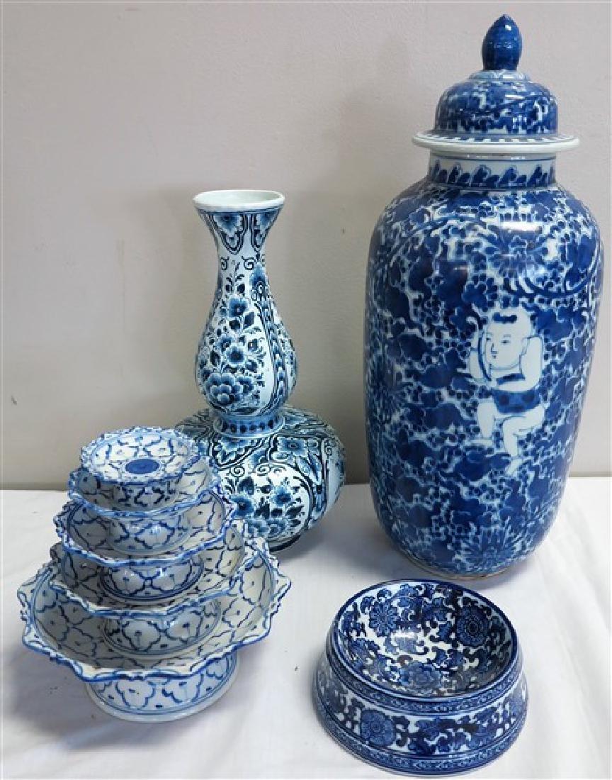 4 Pc. Delft & Chines porcelain lot