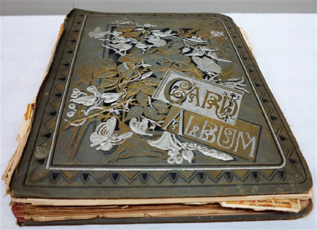 Album of Victorian trade cards