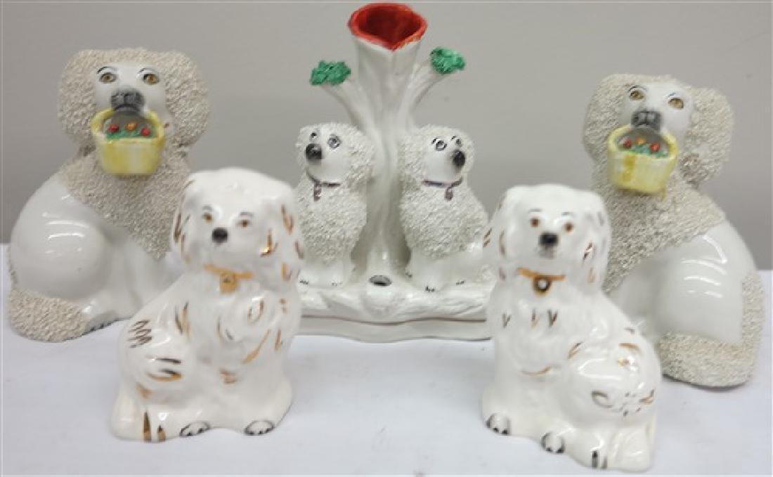 5 Staffordshire dogs